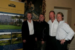 William Crowe Director of Golf at Dundrum House Hotel, Golf & Leisure Resort, Pat Short Comedian, Philip Walton Golf Professional and Charlie Swan, Horse Trainer.