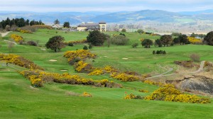 Wicklow Golf Club with clubhouse in the background